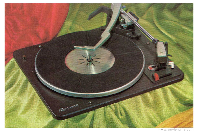 Garrard At Turntable on stereo system with turntable