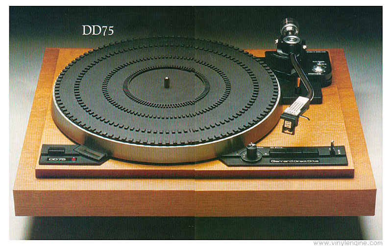 Garrard Dd75 Manual 2 Speed Direct Drive Turntable