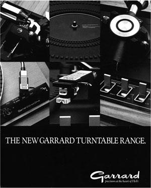 Garrard The New Garrard Turntable Range