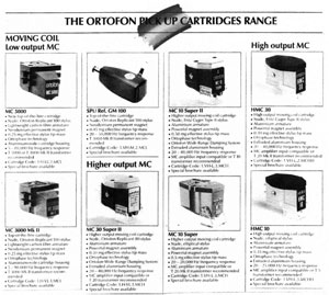 Ortofon Pickup Cartridges Range