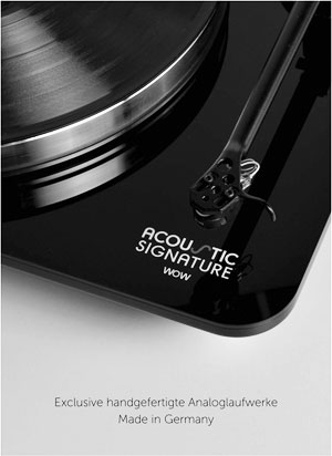 Acoustic Signature Exclusive Handmade Turntables