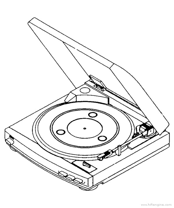 aiwa px-e860 - manual - belt drive turntable
