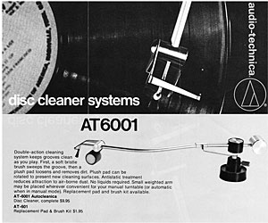 Audio Technica Disc Cleaner Systems