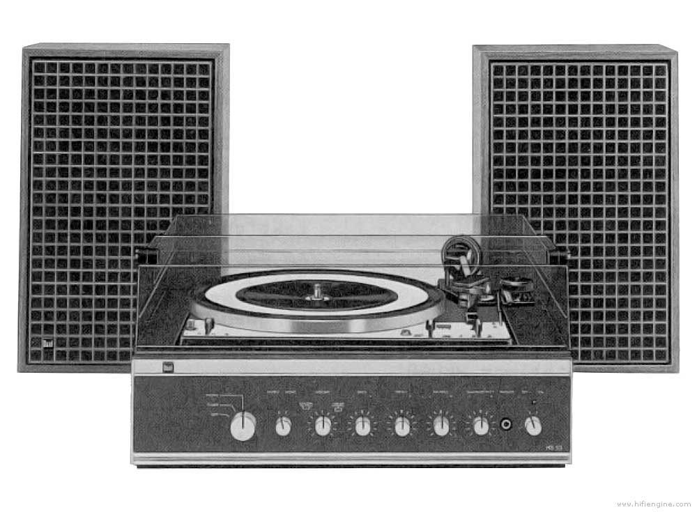 Dual Hs 53 Manual Record Player System Vinyl Engine