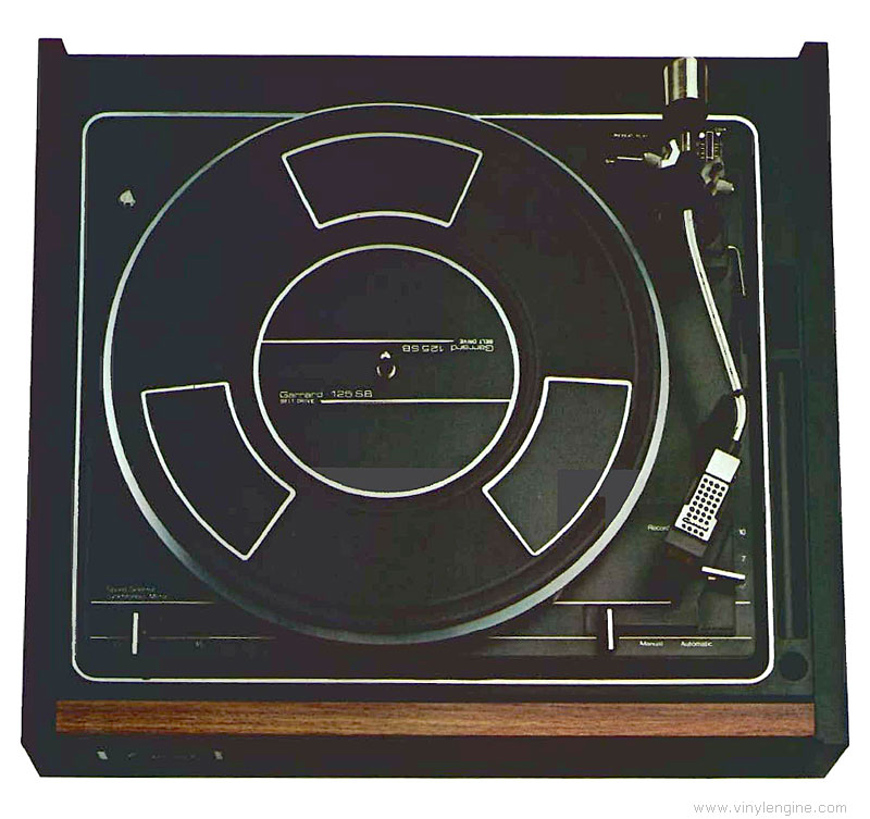 Garrard 125sb Manual Automatic Belt Drive Turntable