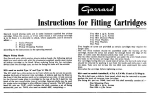 Garrard Fitting Cartridges