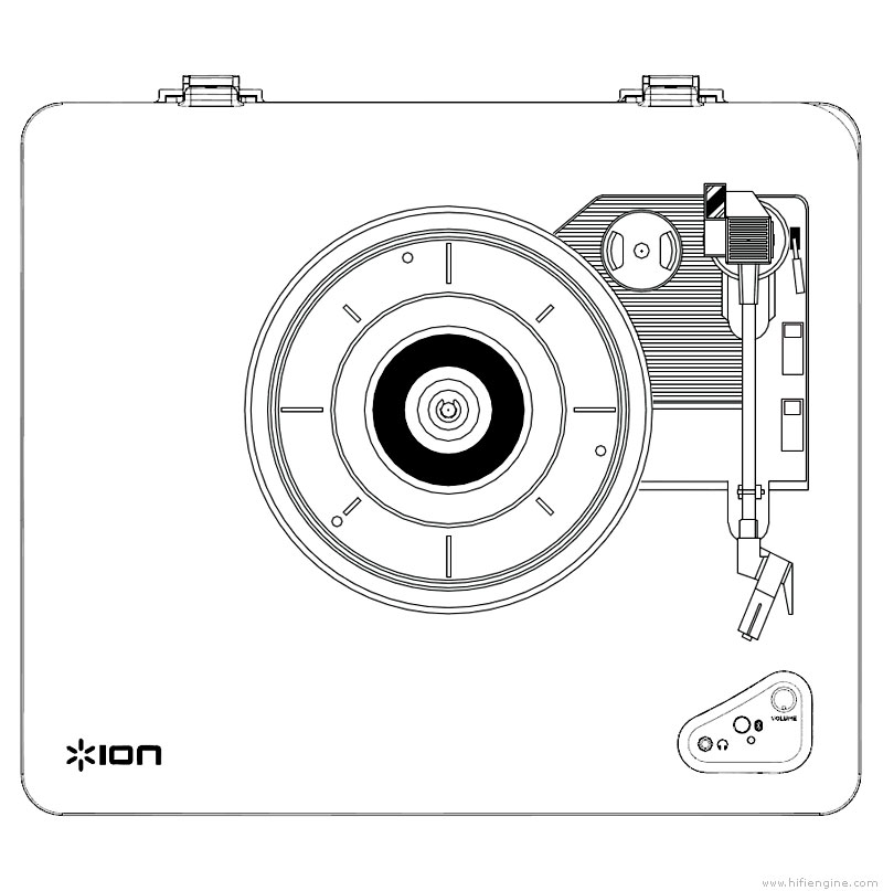 ion audio air lp - manual - belt drive turntable