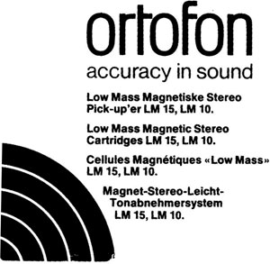 Ortofon Lm 10 Manual Low Mass Stereo Moving Magnet