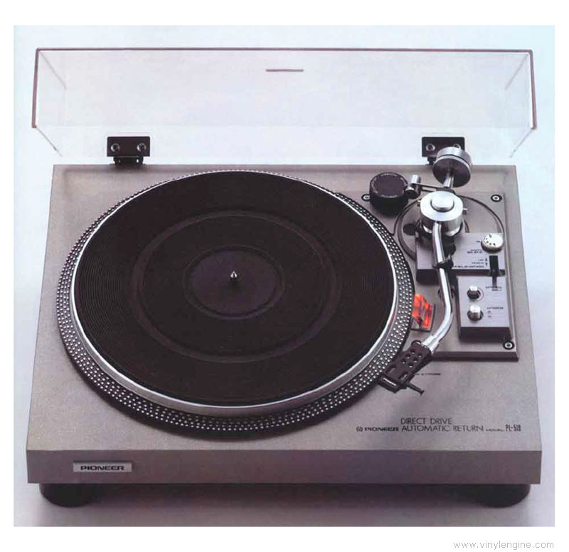 Pioneer Pl 518 Manual 2 Speed Direct Drive Turntable