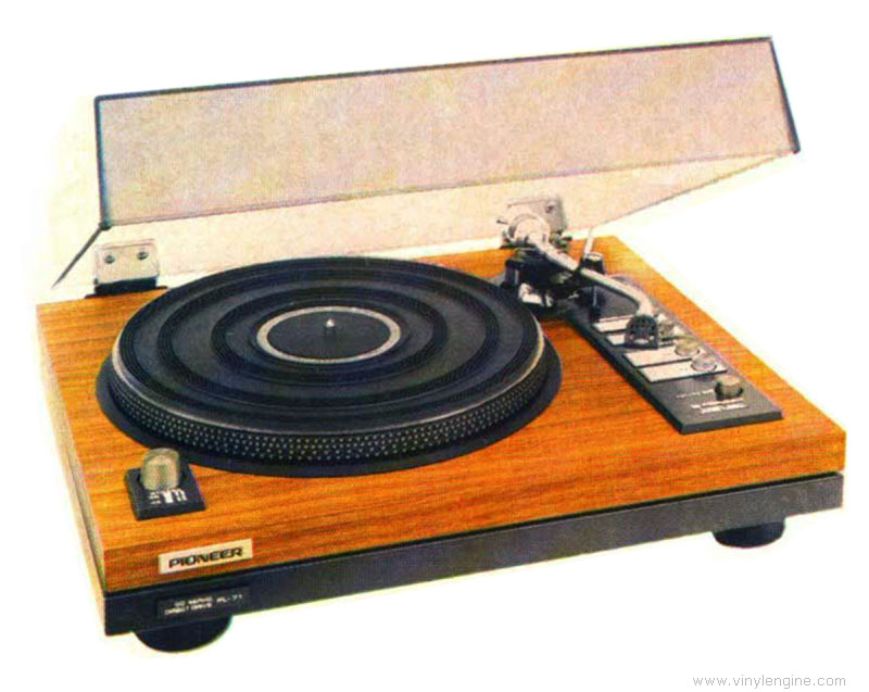Pioneer pl 71 manual electronic direct drive turntable for Direct drive turntable motor