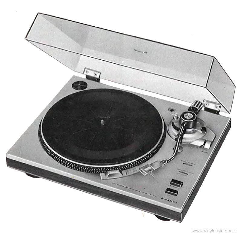 sanyo tp 1010 - manual - semi automatic turntable