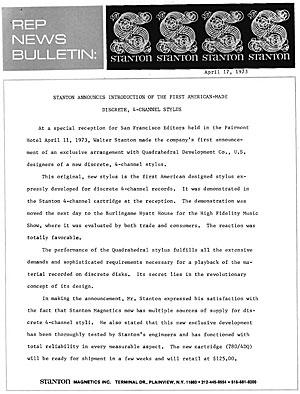 Stanton Rep News Bulletin