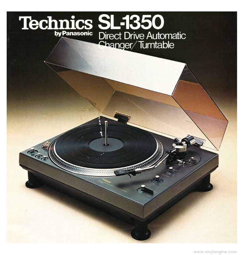Technics sl 1350 manual direct drive automatic player for Direct drive turntable motor
