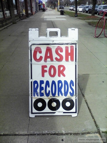 #8 cash for records sign