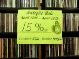 #7 antique mall cd racks and sign #1